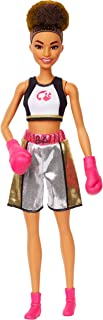 Barbie Boxer Brunette Doll with Boxing Outfit and Pink Boxing Gloves