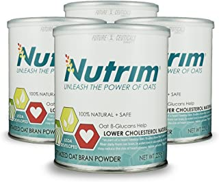 Sponsored Ad - Nutrim® 4-30 Serving Cans (120 Servings) 2-Month Supply - Oat Beta Glucans Help Lower Cholesterol Naturally