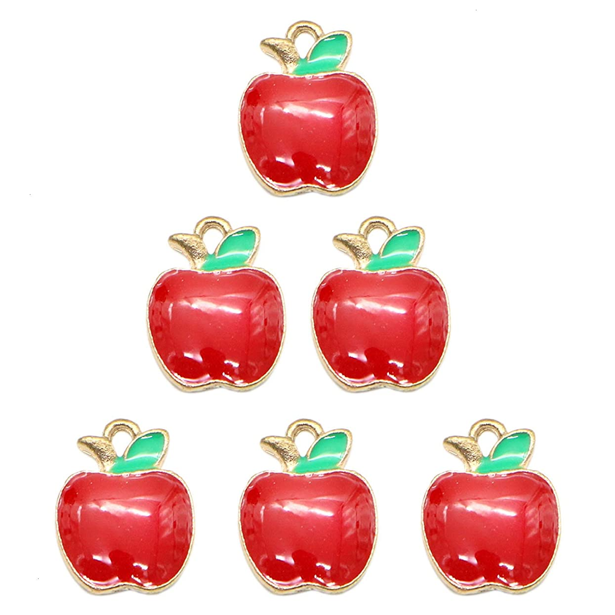 Monrocco 50Pcs Fruit Charm Fruit Enamel Charms Pendants for Jewelry Making, Crafting and Necklace