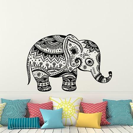 7bo23ha Indian Elephant Wall Vinyl Decal Sticker Elephant Patterns Art Design Murals Indian Design Interior Home Decor
