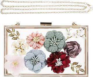 ABOOFAN 1Pc Flower Evening Bag Women Shoulder Bag Floral Evening Bag Wedding Bag Party Favor Supply