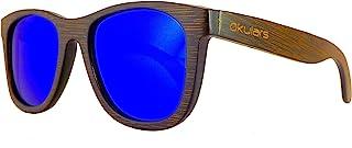 Okulars® Dark Bamboo - Occhiali da Sole in Legno di Bambù Naturale Uomo e Donna, Fatti a Mano - Taglia Unica - Lenti Polar...