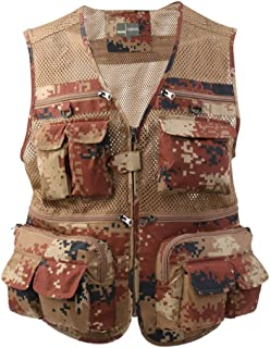 Perfeclan Quick-Dry Mesh Fishing Waistcoat Photographer Vest With Multiple Pockets For Men