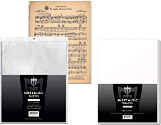 (100) Max Pro Sheet Music Sleeves and Backer Boards - Ultra Clear Protection - (Qty= 100 Sleeves and 100 Boards)