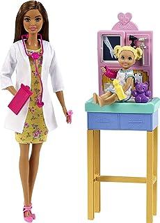 Barbie Pediatrician Playset, Brunette Doll (12-in), Exam...