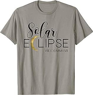 Unique Calligraphy & Lettering Solar Eclipse 2017 T-Shirt