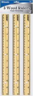حاکم چوبی BAZIC ، 12 اینچ ، 3 در هر بسته