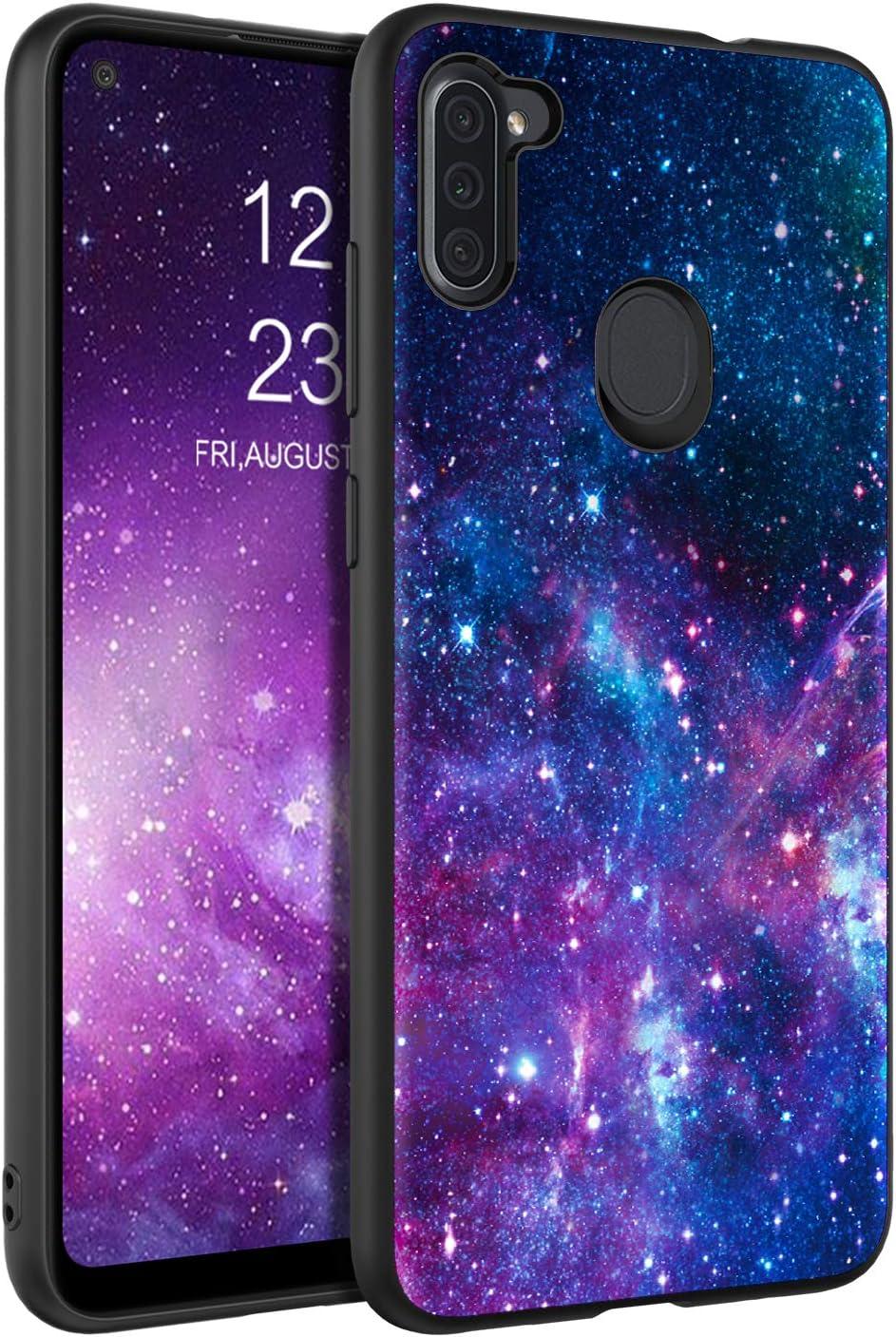 BENTOBEN Samsung Galaxy A11 Case, Slim Fit Glow in The Dark Protective Hybrid Hard PC Soft TPU Bumper Cover Shockproof Phone Cases for Samsung Galaxy A11, Nebula/Galaxy