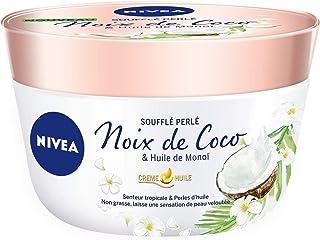 NIVEA Baume Corps Soufflé Perlé (1 x 200 ml), soin corps hydratation 24 h, baume hydratant à l'huile de monoï et au parfum...