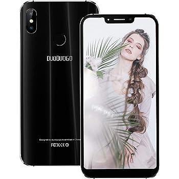 Moviles Libres 4G,5.85 Pulgadas 3GB RAM 32GB ROM 4500mAh Bateria,12MP Camara,Desbloqueo de Fingerprint,Face ID,Dual Sim,Android 7.0 Smartphone Libres con Funda 4S (Negro): Amazon.es: Electrónica