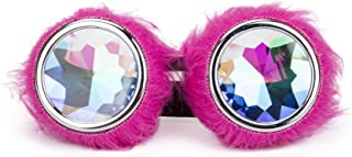 3-5 Days Delivery Kaleidoscope Rave Rainbow Crystal Lenses Steampunk Goggles