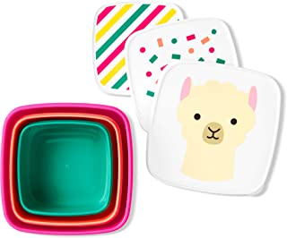 Skip Hop Toddler Food Storage Snack Box Set, Llama