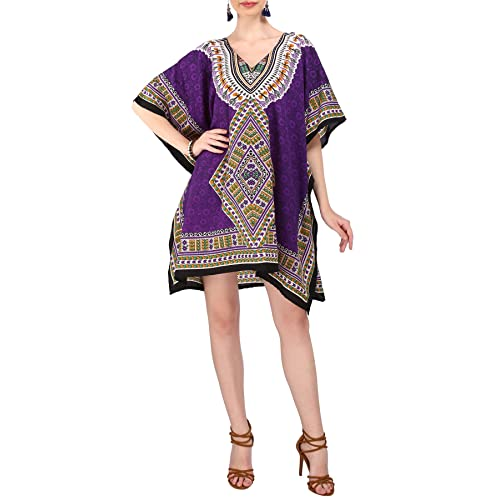 4adcc611de677 Miss Lavish Women s Kaftan Tunic Kimono Style Dress Summer Beach Cover Up Plus  Size