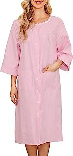 House Coat Women Duster Housedress 3/4 Sleeve Muu Muu...