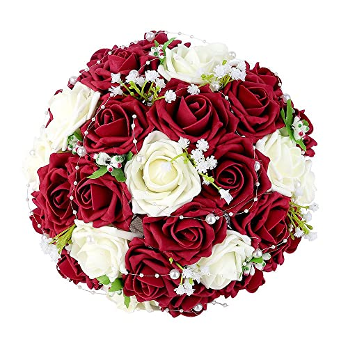 Red White Bridal Bouquets Amazon