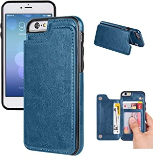 iPhone 6/6s Wallet Case-JOYAKI PU leather card Case -Slim fit Executive Wallet Card Case - Ultra Slim Protective iPhone Case (Steelblue)