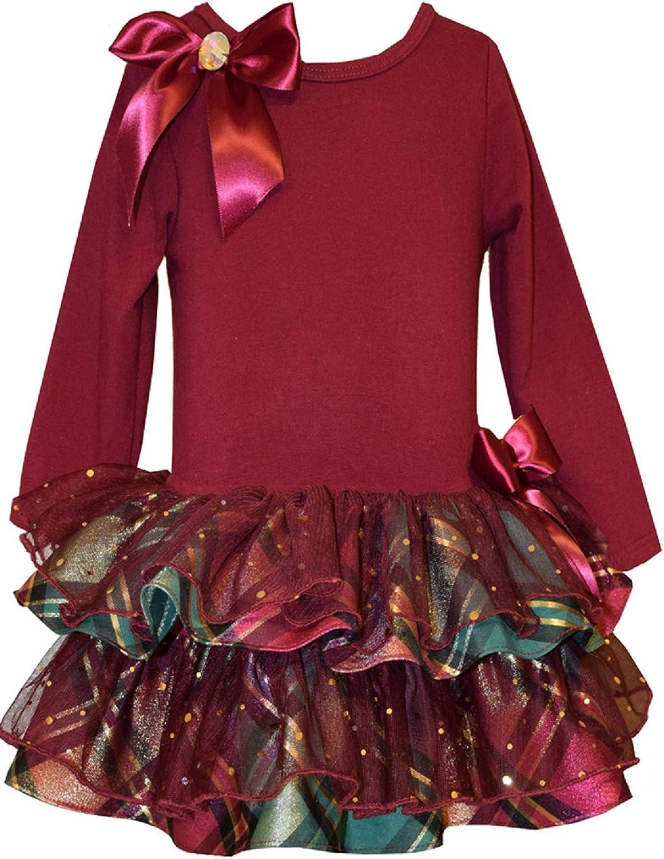 Bonnie Jean Girls' Christmas Holiday Santa Dress