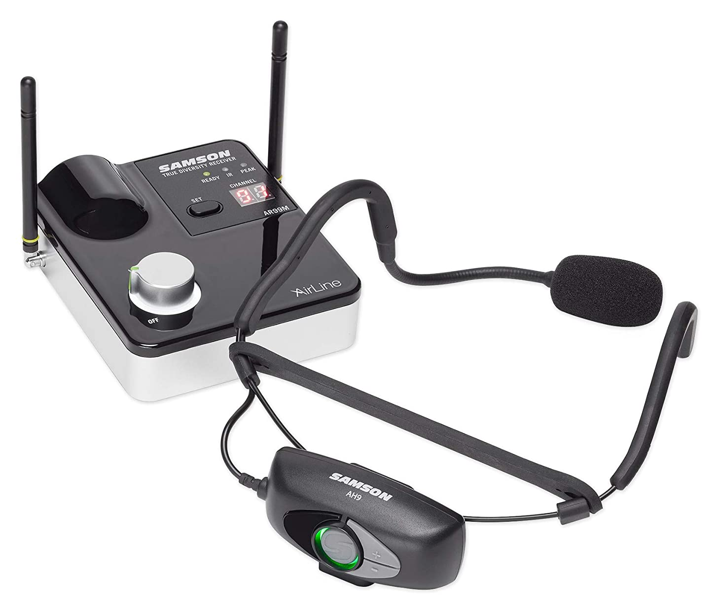 Samson AIRLINE 99M Wireless Rechargeable Headset For Yoga/Spin/Pilates K-Band