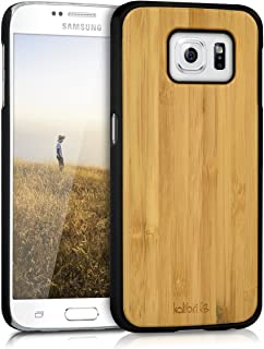 kalibri Protection case Made Out of Wood for Samsung Galaxy S6 / S6 Duos - Premium Real Wood Case Cover with Plastic in Light Brown