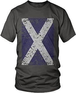 Amdesco Men`s Oversized Faded Scotland Flag, Scottish Flag T-Shirt