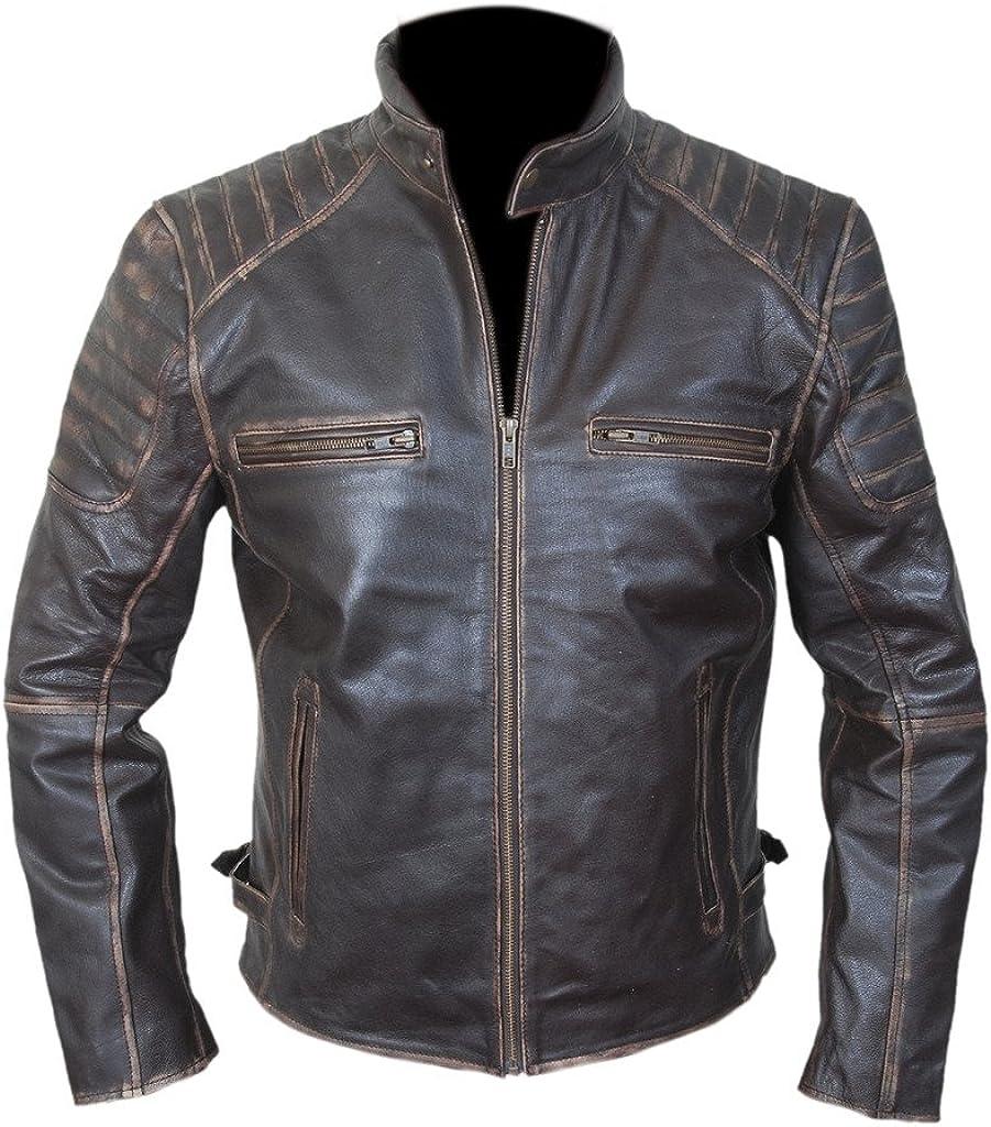FH Men's Ranking TOP14 Vintage Cowhide Jacket Biker Leather Indefinitely Genuine