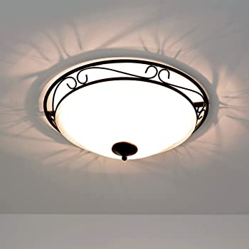 LED Decken Lampe quadratisch Metall Glas Design Leuchte Innen Raum Beleuchtung