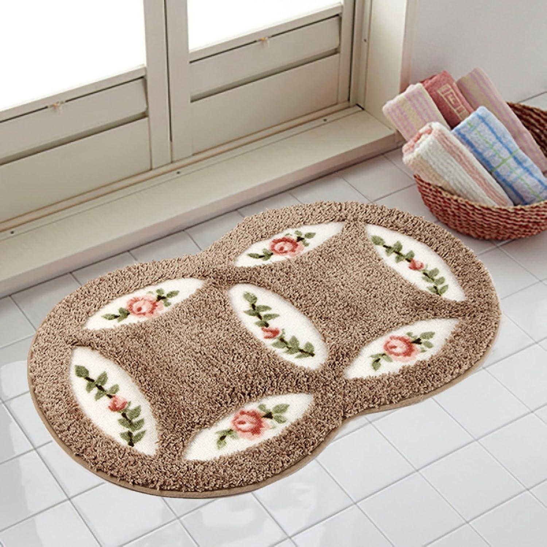 Pastoral Blanket Mattress Bathroom Bathroom Non-Slip Bedroom Door Mat Door Kitchen Living Room Carpet,A3