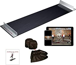 Obsidian Exercise Slide Board - 6' and 5' Foot Slide Board for High Intensity and Low Impact Exercise   Fitness Board for Weight Loss and HIIT