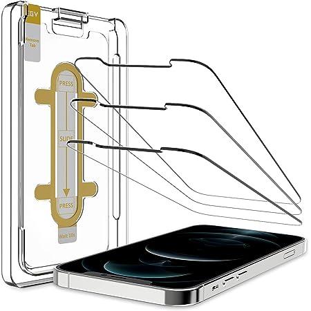 Egv 3 Stück Schutzfolie Kompatible Mit Iphone 12 Pro Max 6 7 Zoll Mit 1 Stück Null Fehler Positionierhilfe 9h Härte Schutzfolie Hd Klar Displayschutzfolie Kratzfest Fingerprint Blasenfrei Elektronik