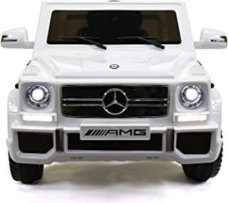 MIGOTOYS Licensed G65 Mercedes-Benz, Kids Ride on Powered Car 12V &Remote Controller, White