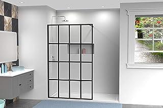 "Goodyo 34"" X 72"" Shower Door Clear Tempered Glass Framed Shower Screen Walk-in Black Finish"
