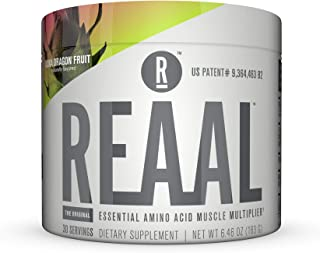 REAAL Kona Dragon Fruit Powder, Helps Build, Restore, and Maintain Lean Muscle with Essential Amino Acids, Gluten Free, Bl...