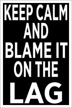 Spitzy's Keep Calm and Blame It On The Lag 12 by 18 Inch Poster - Funny Video Gaming Poster for Gamers