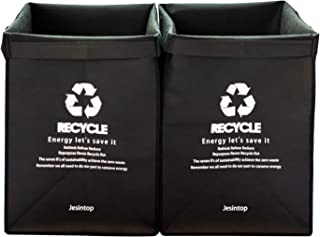 Recycle Waste Bin Bags for Kitchen Home Trash Sorting Bags Organizer Baskets Compartment Container Bags with Sturdy Handle...
