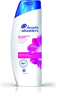 Head & Shoulders Smooth and Silky Shampoo, 340ml/360ml (Weight May Vary)