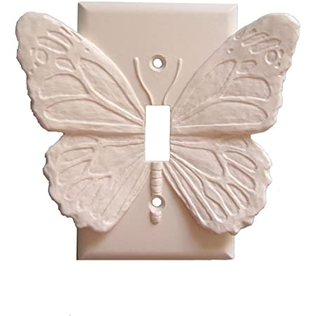 Butterfly Light Switch Plate Single Toggle In White Amazon Com