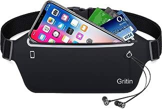 Gritin Running Belt with Adjustable Elastic Strap