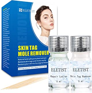 ELETIST Skin Tag Remover Mole remover with Repair Lotion Set Quickly and Easily Skin Tag Removal for Common Skin Tag, Wart...