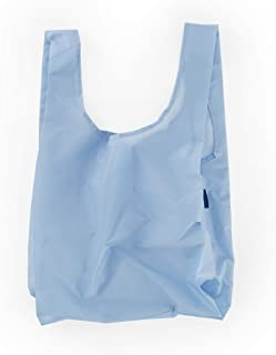 BAGGU Standard Reusable Shopping Bag, Ripstop Nylon Grocery Tote or Lunch Bag, Recycled Sky Blue
