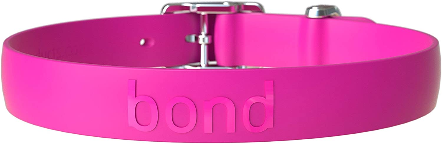 Bond Pet Products High Performance Dog Collar   Waterproof & Durable Collars for Dogs (Small, Raspberry Pink)