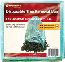 Santa's Things Christmas Tree Removal Bags Fits Up to 10 ft Tall Plastic Disposable