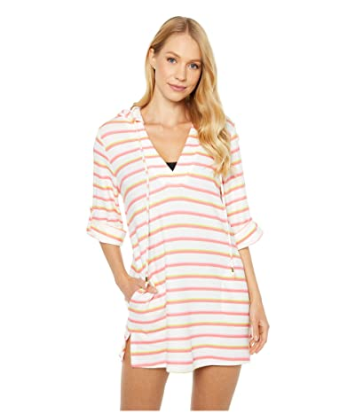 Trina Turk Costa De Prata Hooded Convertible Sleeve Tunic Swimsuit Cover-Up (Multi) Women