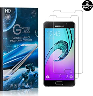 Galaxy A5 2016 Screen Protector Tempered Glass, Bear Village® Perfect Fit & Anti Fingerprint HD Screen Protector Film for Samsung Galaxy A5 2016-2 Pack