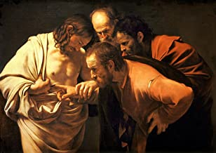 Michelangelo Merisi da Caravaggio: The Incredulity of Saint Thomas. Fine Art Print/Poster. Size A4 (29.7cm x 21cm)