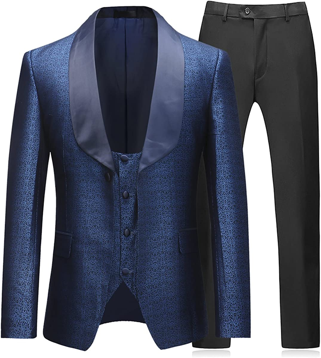 Boyland Mens 3 Piece Tuxedo Prom Groom Max 58% OFF Party Free shipping New Suits Dinner