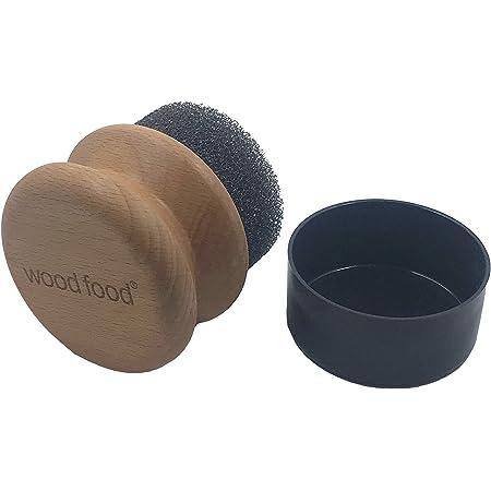 wood food 家具用ワックス用ワックスアプリケーター (1, 抗菌スポンジ) (1, 丸型抗菌スポンジ)