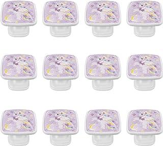 Boutons D'armoire 12 Pcs Poignés Poignée De Champignons Porte Poignées avec Vis pour Cabinet Tiroir Cuisine,Unicorn Moon S...