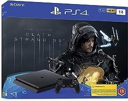 جهاز تشغيل الالعاب Playstation 4 سليم بسعة تخزين 1 تيرا مع مجموعة لعبة ديث ستراندينغ