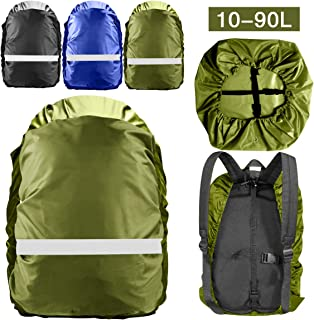 Topspeeder Backpack Rain Cover (10L-90L) 100% Waterproof Backpack Cover Upgraded Waterproof Backpack Cover with Adjustable Cross Strap for Hiking Camping Traveling Outdoor Activities