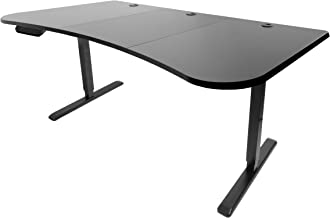 VIVO Black Electric Height Adjustable Stand Up Desk Frame, Workstation with 63 x 32 inch Table Top and Controller | Frame and Desktop Combo (DESK-KIT-2E1B)